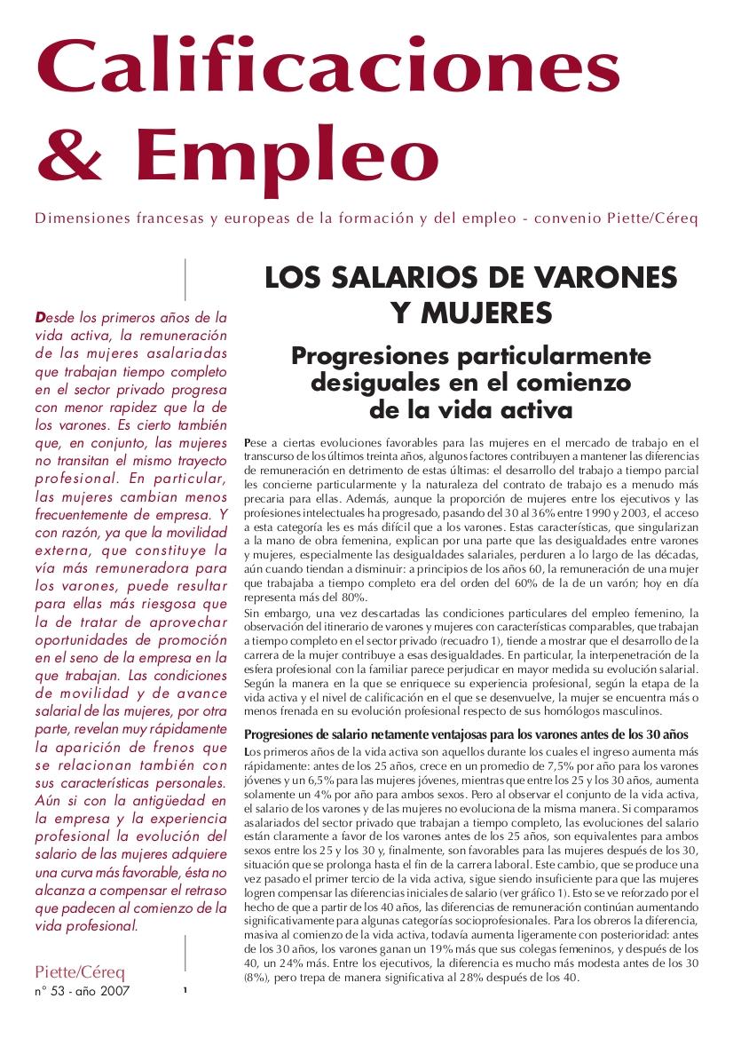Calificaciones y Empleo (no. 53 2007)