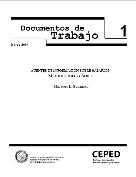 Fuentes de información sobre salarios: metodologías y series