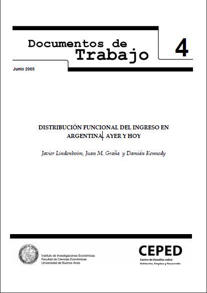 Distribuci�n funcional del ingreso en Argentina. Ayer y hoy