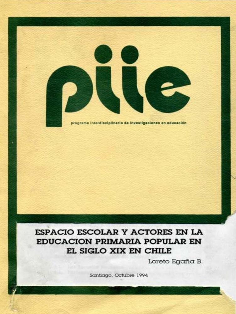 Espacio escolar y actores en la educación primaria popular en el siglo XIX en Chile
