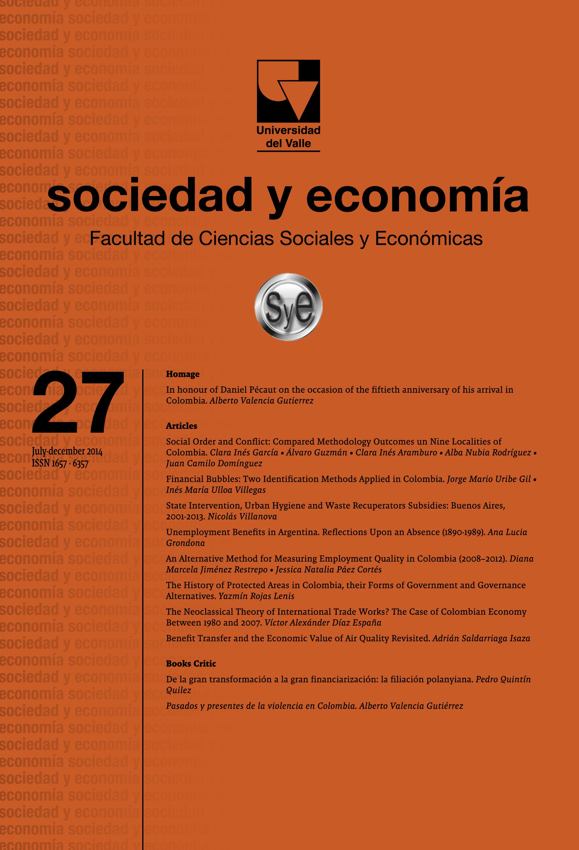 Sociedad y Econom�a (No. 27 jul-dic 2014)