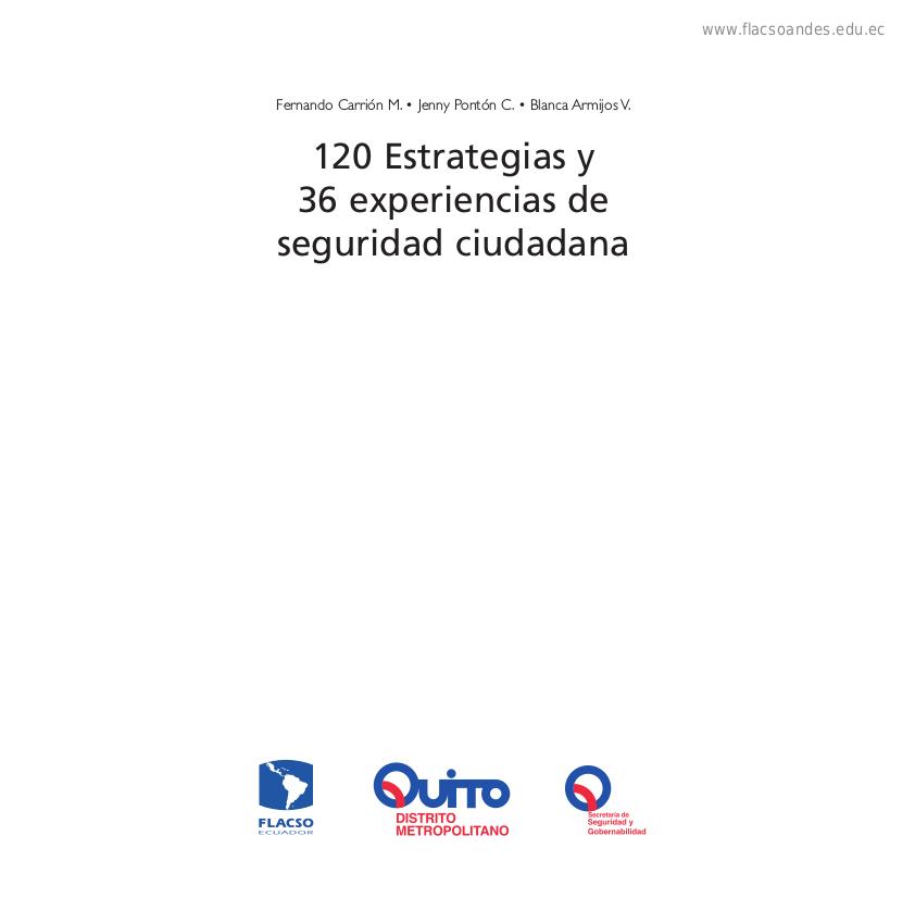 120 estrategias y 36 experiencias de seguridad ciudadana